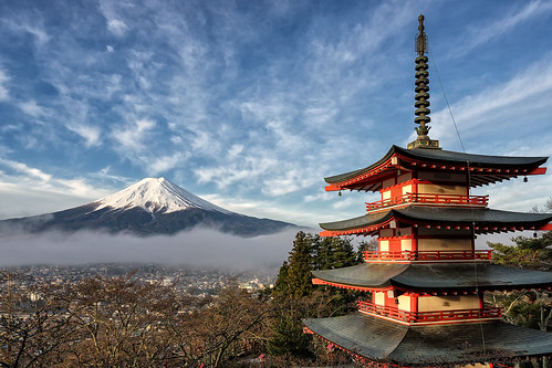 travel mountain tourism japan clouds zeiss sunrise landscape asian temple japanese pagoda colorful asia fuji sony famous beautifullight landmark mount fujisan alpha a7 goldenhour chureito
