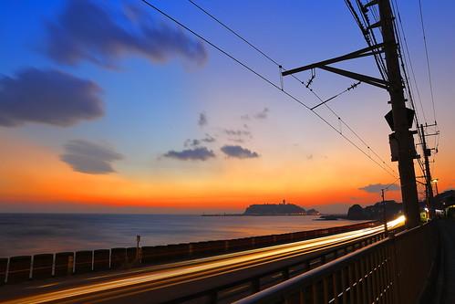longexposure sea sky cloud japan tokyo scenery enoshima slamdunk haruko 江之島 sunset日落 canon6d trip旅行 kamakurakōkōmae shadow光影 2470f28ii onizgaex 鎌倉高校前駛