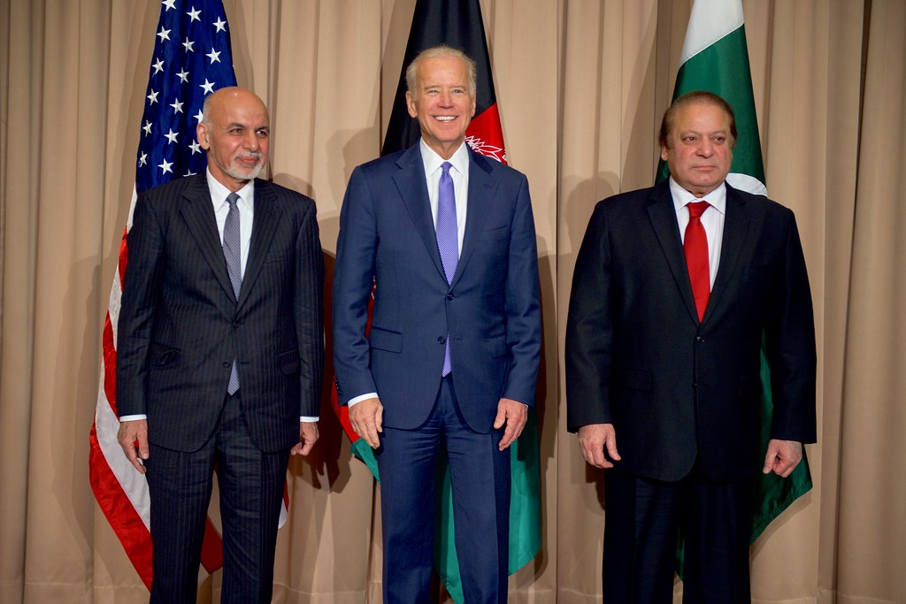 Vice President Biden Stands With Afghanistan President Gha