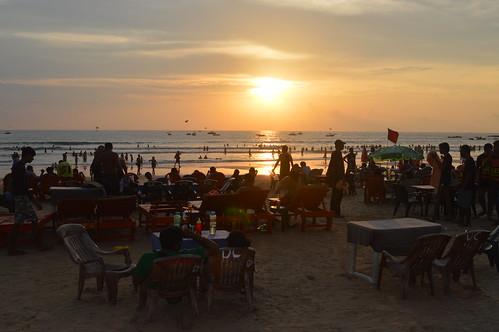 Restaurant View from Baga Beach
