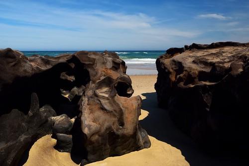 seascape rocks australia shore newsouthwales aus portmacquarie lakecathie nikon1635mmf4 nikond750
