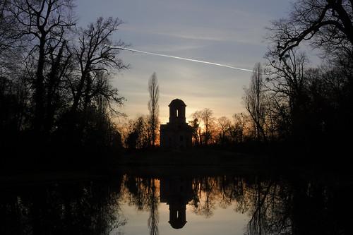 sunset sonnenuntergang coucherdusoleil schlossschwetzingen