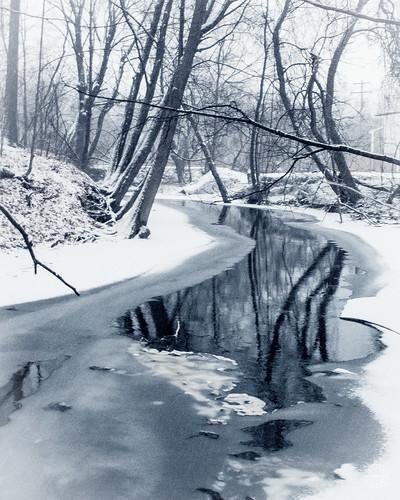 county new york winter bw orange snow ny newyork tree ice monochrome rural creek landscape woods day orangecounty warwick conditions