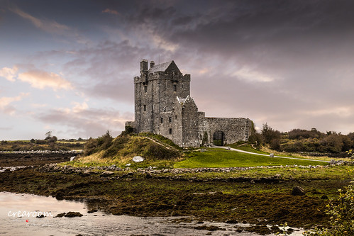 cloud color castle galway water stone canon landscape irland ie schloss landschaft dunguairecastle crearoom