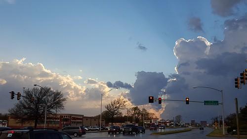 sunset thunderstorm bartlesville cloudsstormssunsetssunrises galaxys6