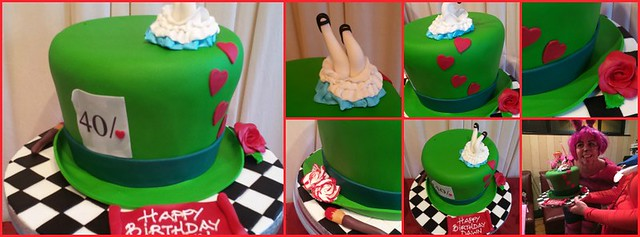 Cannaboe Mad Hatter 40th cake