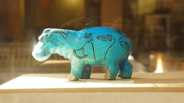 Turquoise Hippopotamus figurine