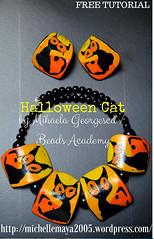 Halloween cat polymer clay tutorial by Beads Academy / Mihaela Georgescu