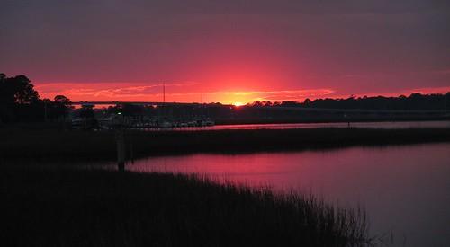 sunset sky sun sunlight water southcarolina hiltonhead hiltonheadisland southernskies hiltonheadsouthcarolina disneyshiltonheadresort lowcountrylife canonpowershotsx160is chadsparkesphotography