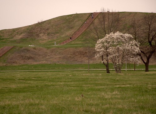 cahokia mounds springtime monksmound