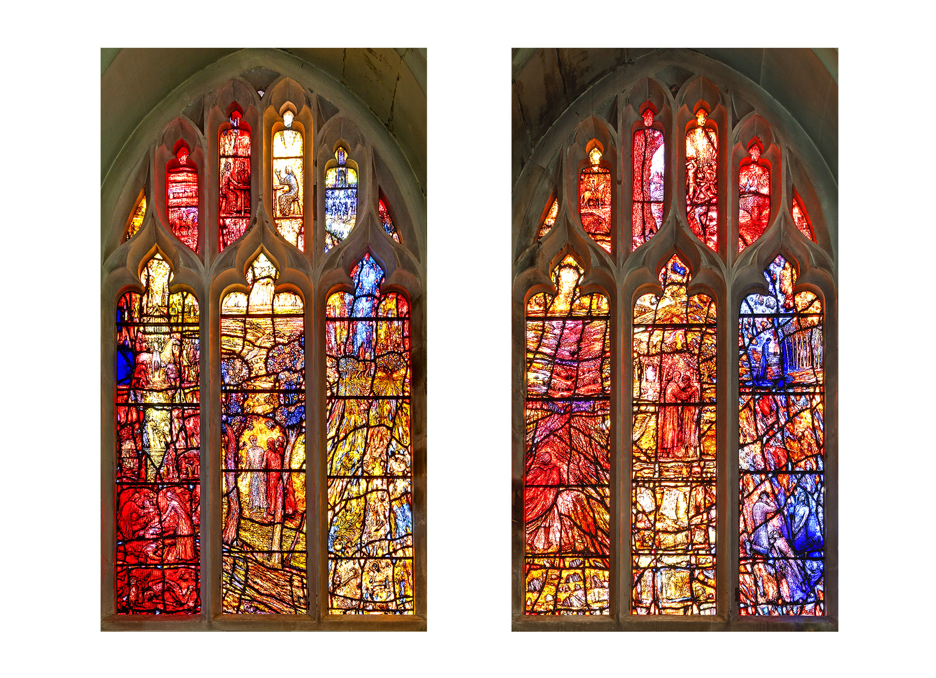 Thomas Denny's windows in St Katharine's Chapel, Leicester Cathedral (Richard Jarvis)