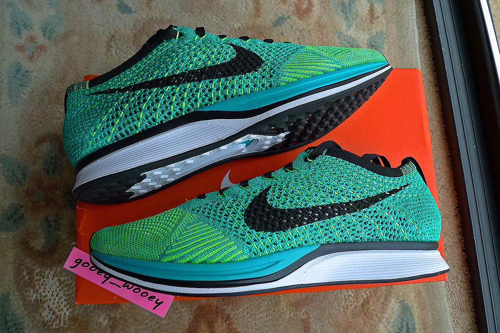 best sneakers e55ad 61f28 ... Nike Flyknit Racer 'Sport Turquoise / Black - Lucid Green' (526628 300)