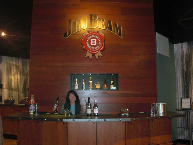 behind the bar @ Jim Beam