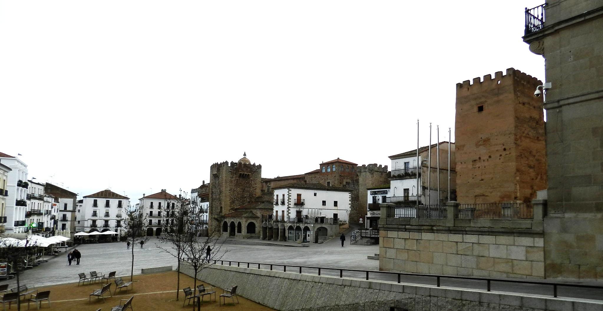 Cáceres Plaza Mayor Torres de Bujaco de los Pulpitos de la Yerba