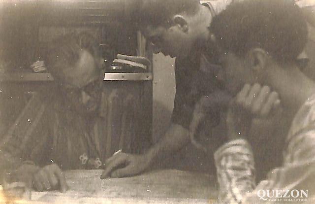 President Quezon,Commander CC Smith, Manuel Quezon Jr.