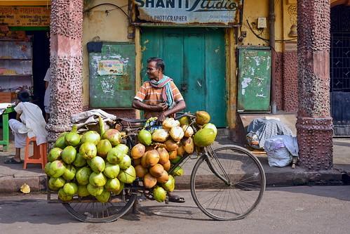 india kolkata westbengal coconutseller asienmanphotography