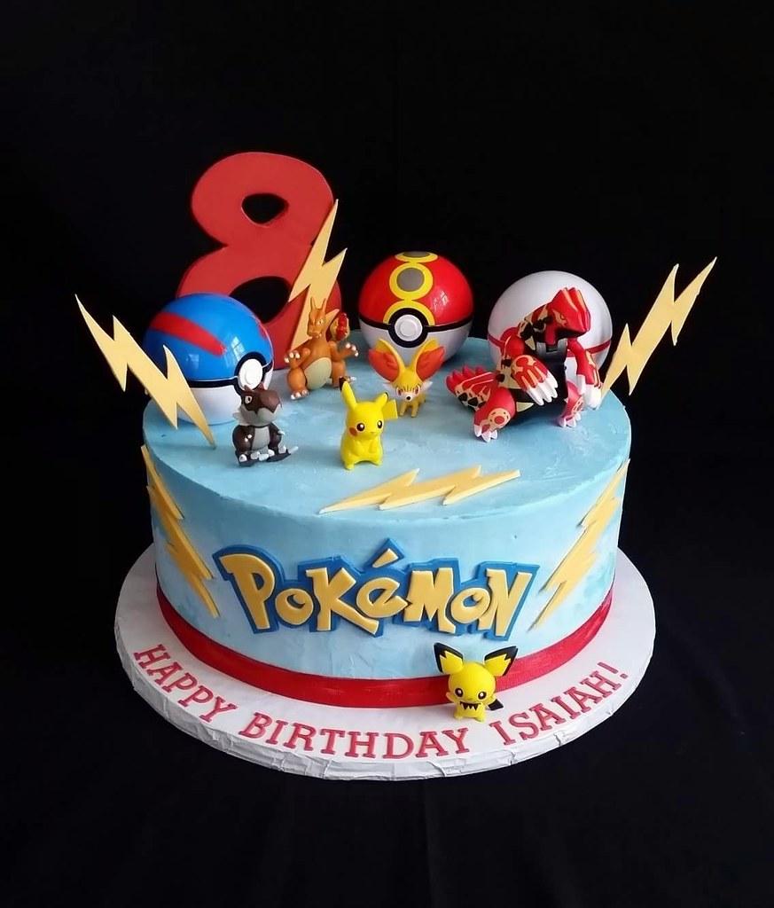 Admirable A Fun Pokemon Cake The Birthday Boy Wanted A Cool Cake Th Flickr Funny Birthday Cards Online Inifodamsfinfo
