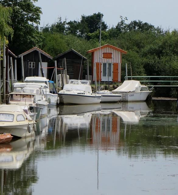 Au port de Biganos, bassin d'Arcachon, Gironde, Aquitaine, France