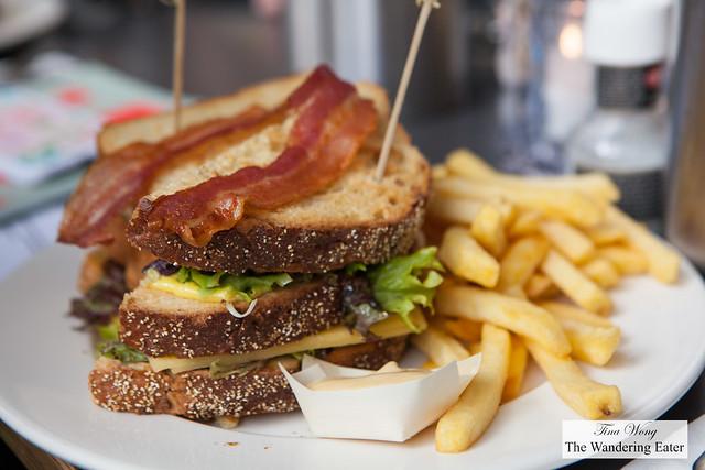 Turkey club sandwich at IJ Kantine