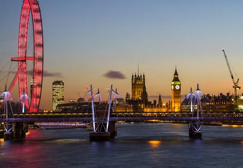 bigben clouds crane england jubileebridge london londoneye longexposure matthewbiddle sunset thames uk