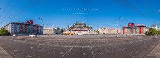 Kim Il Sung Square view of Grand People's Study House | by reubenteo
