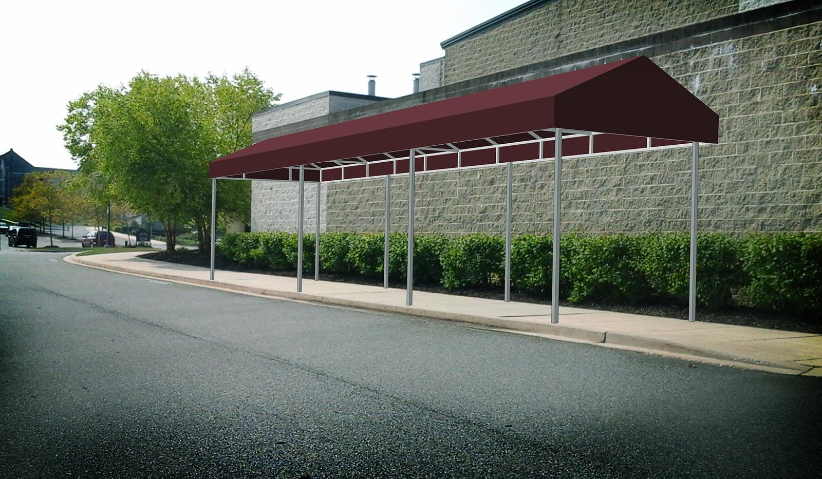 A FRAME Sidewalk Awning Rendering