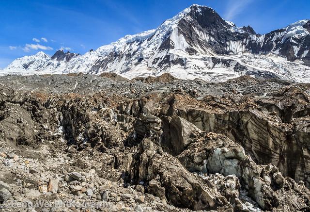Hispar Glacier, Biafo Hispar Snow Lake Trek, Central Karakoram National Park, Gilgit-Baltistan, Pakistan