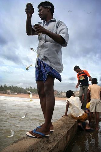 people beach pier fishing kerala catch trivandrum southindia thiruvananthapuram challengeyouwinner seemakk