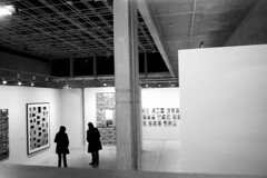 people at an exhibition