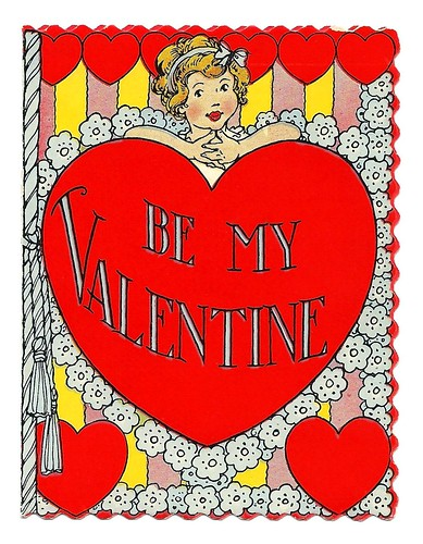 Vintage Valentine Day Greeting Card - Be My Valentine, Printed In USA, Circa 1940 | by France1978