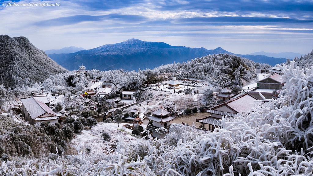 Snow scene @ Jiuxian Mountain