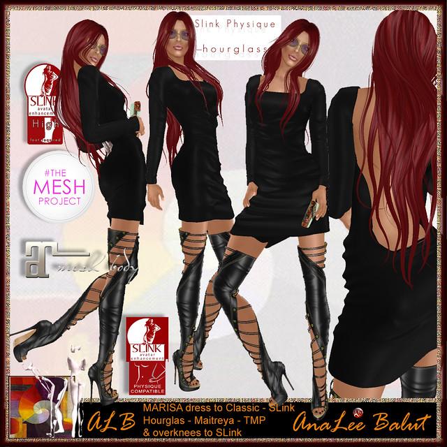 ALB MARISA dress & overknee boots set - 100L only