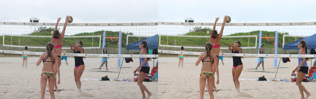 women's volleyball pick-up game at lummus park, miami sout