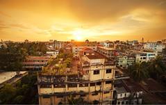 sunset in khulna , bangladesh