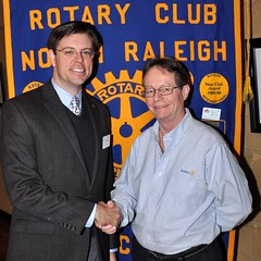 President Chris Morden thanks Ian Rumbles for his very interesting presentation.
