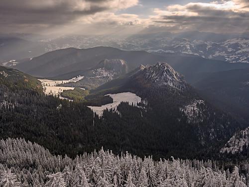 winter light sky cloud mountain snow cold nature landscape nikon scenery europe view natural outdoor romania rays beams massif neamt 1635mm ceahlau d810 outstandingromanianphotographers piatrasura