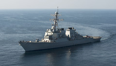 In this file photo, USS Higgins (DDG 76) operates in the Arabian Gulf in December. (U.S. Navy/MC2 Gabriel Bevan)