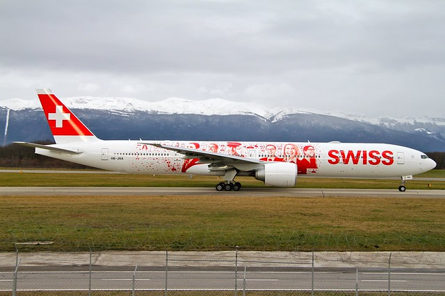 Swiss (People's Plane Livery). HB-JNA. Boeing 777-3DE(ER).