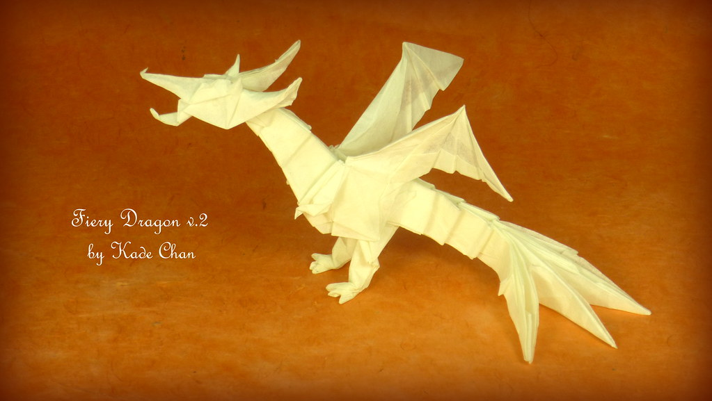 Tadashi Mori - Fiery Dragon V.2 by Kade Chan Origami... | 577x1023