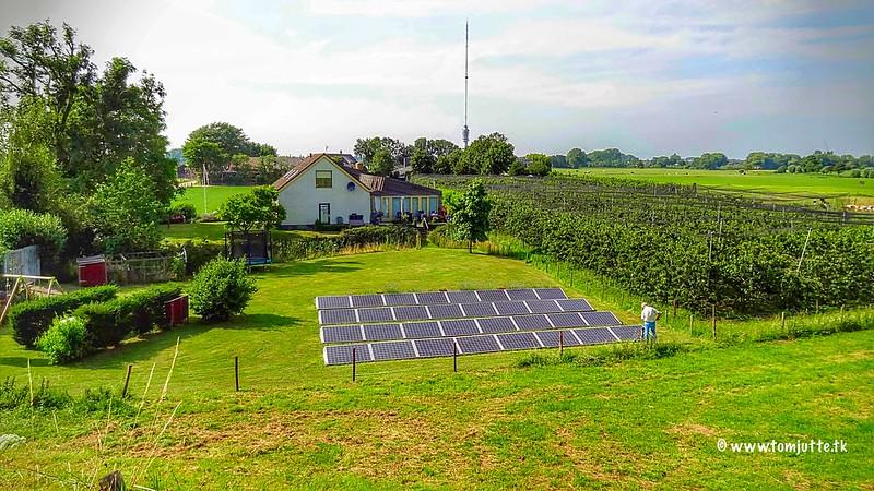 Solar panels, Lekdijk, IJsselstein, Netherlands - 3649