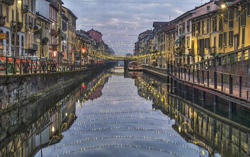 milano milan lights luci hdr naviglio cityscape filippo filippobianchi d7000 reflection photographia