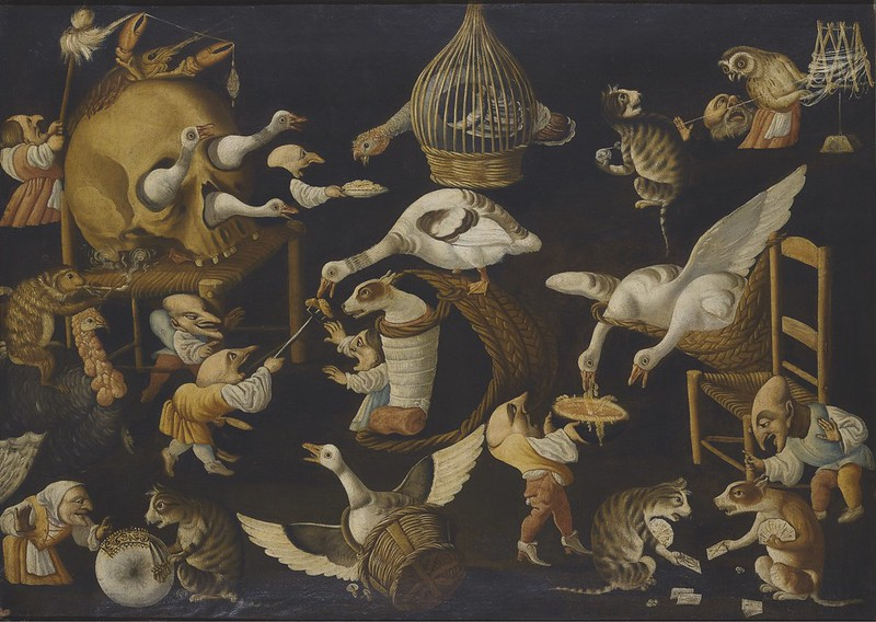 Master of the Fertility of the Egg - Grotesque Scene With Animals, Late 17th- early 18th Century