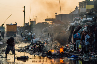 Scavengers Burning Trash, Tondo Garbage Dump, Manila Philippines | by AdamCohn