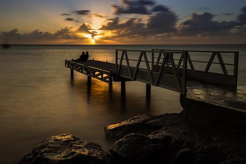 contrejour ponton coucherdesoleil guadeloupe caraïbes basseterre poseslongues