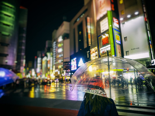 street travel rain japan night umbrella reflections tokyo nightscape bokeh shibuya olympus 日本 東京 transparent 渋谷 夜景 em1 澀谷 109departmentstore 1240mmf28