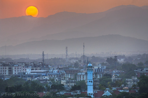 travel pakistan sunset horizontal misty outdoors asia pk hazy islamabad colorimage islamicculture indiansubcontinent islamabadcapitalterritory