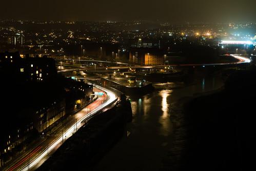 city night bristol cityscape cliftonsuspensionbridge brunel riveravon cumberlandbasin isambardkingdom