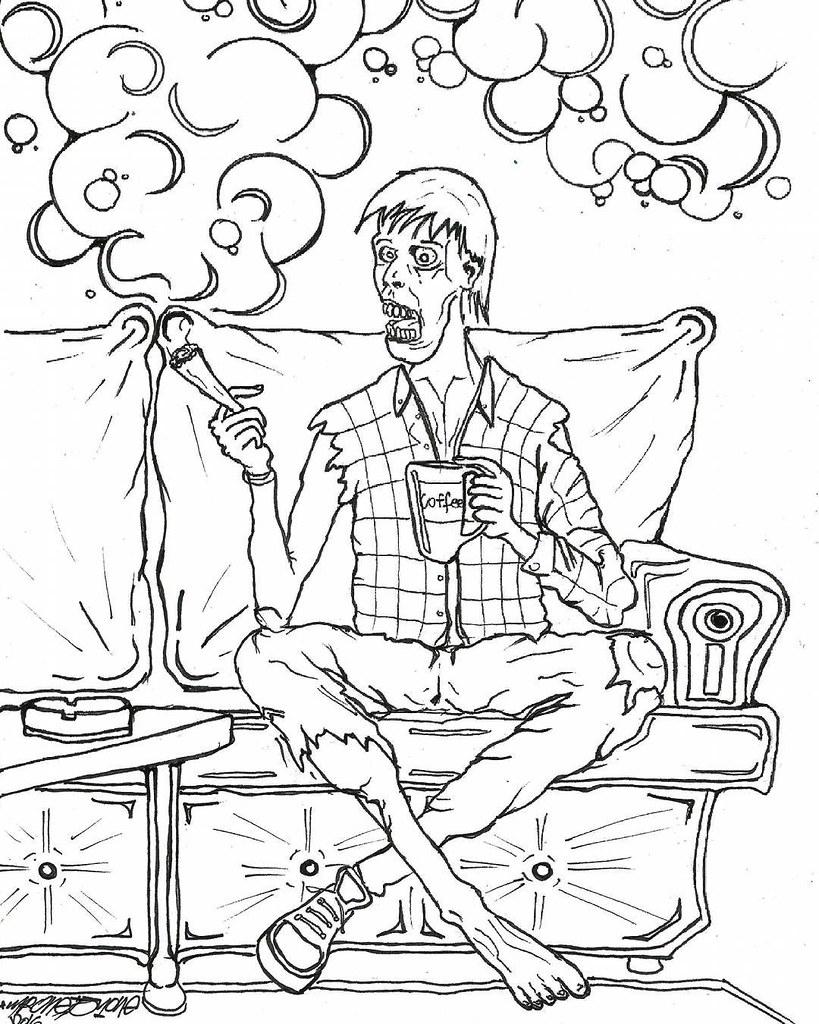 - Zombie Stoners Coloring Book Pg.1 #sketchbook #sketch #dra… Flickr
