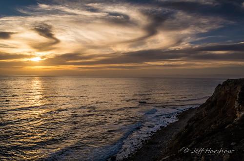 sunset clouds waves dusk cliffs pacificocean palosverdes pointvicente 1855mmvr nikond7100