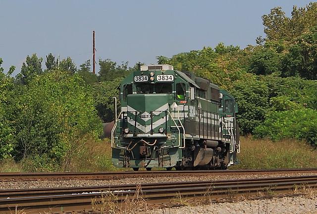 EVWR 3834  (GP38-2) Evansville, Indiana